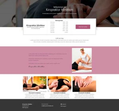 Ny hjemmeside - klinik