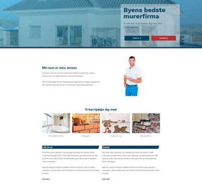 Ny hjemmeside - Muremester